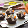 Bunny Butt Brownies! A cute and simple Easter dessert treat for kids and adults. www.kidfriendlythingstod.com