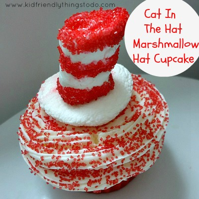 Cat In The Hat Cupcake