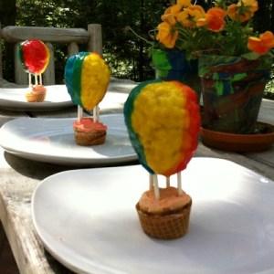Hot Air Balloon Cupcake Idea
