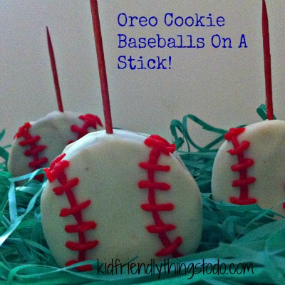 Baseball Cookies On A Stick