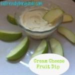 Simple Cream Cheese Fruit Dip