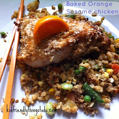 Baked Orange Sesame Chicken