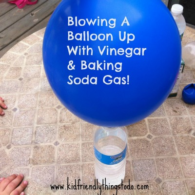 A Fun Science Experiment Blowing A Balloon Up With Gases From Baking Soda & Vinegar!