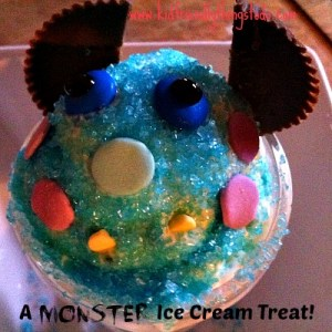 Monster Ice Cream Treat