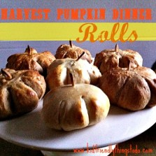 Harvest Pumpkin Shaped Dinner Rolls - perfect for fall, all the way into Thanksgiving time!