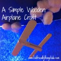 A simple airplane craft with a clothespin, and 2 craft sticks!