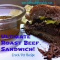 The Ultimate Game Day, New Years Eve, Christmas, and any holiday Slow Cooker Recipe for A Delicious Roast Beef Sandwich!