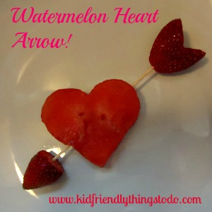 A Watermelon Shooting Arrow for Valentines