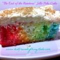 End of the Rainbow Jello Poke Cake