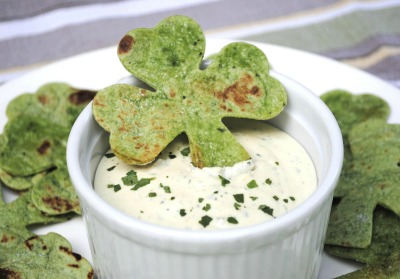 shamrock chips. What a simple idea for St. Patrick's Day snacks!