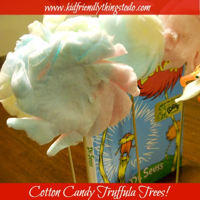 Dr. Seuss Cotton Candy Truffula Tree Fun Food!