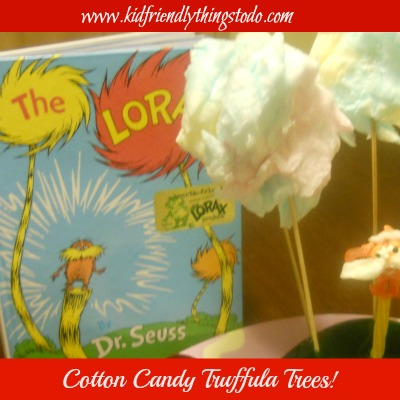 Dr. Seuss Cotton Candy Truffula Tree Fun Food!