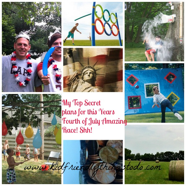 Awesome outdoor games, and fun Amazing Race Ideas for the Fourth of July or Patriotic Party!