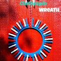 Patriotic Wreath made out of clothespins!