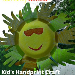 Sunshine Handprint Craft! Cute idea for Father's Day, Mother's Day, or a lesson on the sun for Sunday School, or School!