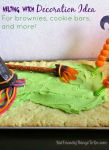 Melting Witch Decoration Idea for a sheet cake, cookie bars, or brownies! KidFriendlyThingsToDo.com
