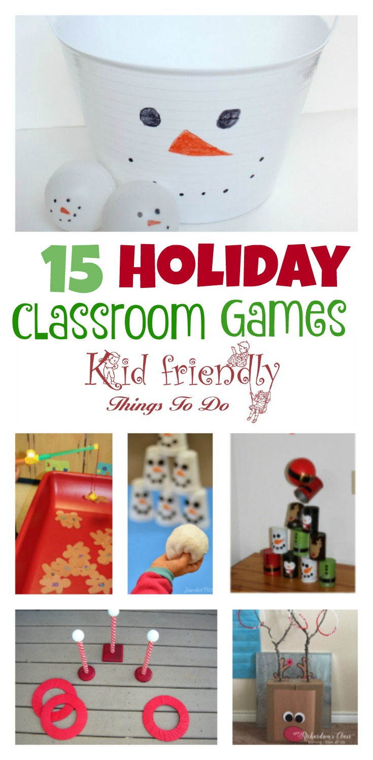 Classroom Birthday Party Games ~ Christmas party games for the holiday kid friendly