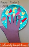 Cute, and simple hand print craft for Fall or Thanksgiving Craft! Great ideas on turning this into a Thankful Tree for little kids!