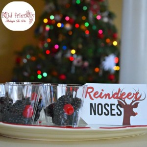 A Fruit Cup of Reindeer Noses - A Fun & Healthy Snack for Kids at Christmas - fun and healthy. Perfect for Christmas parties. Plus free Reindeer Noses Printable! www.kidfriendlythingstodo.com