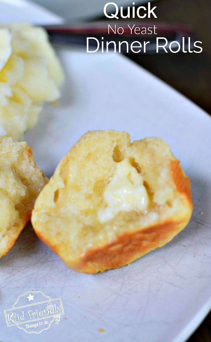 Finally, a delicious, easy, homemade, quick No Yeast dinner roll. A great biscuit, or roll recipe for breakfast, dinner, Thanksgiving, or Christmas!