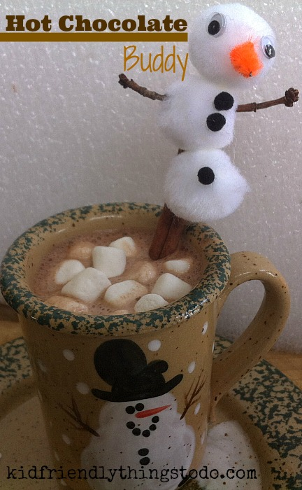 A cute Cinnamon Stick buddy for Hot Chocolate