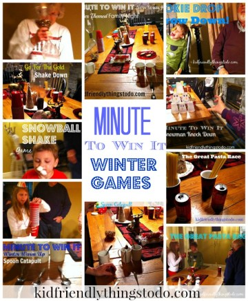 Awesome games for family game night, Minute To Win It Parties, New Years Eve, or classroom parties!