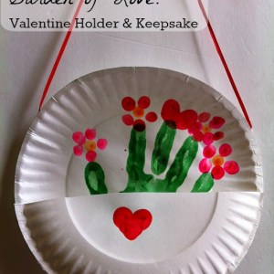 So sweet! This Valentine craft would make a good Valentine Card Holder and then a great hand print keepsake!