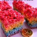 Rainbow Rice Krispies Treats - Perfect for St. Patrick's Day