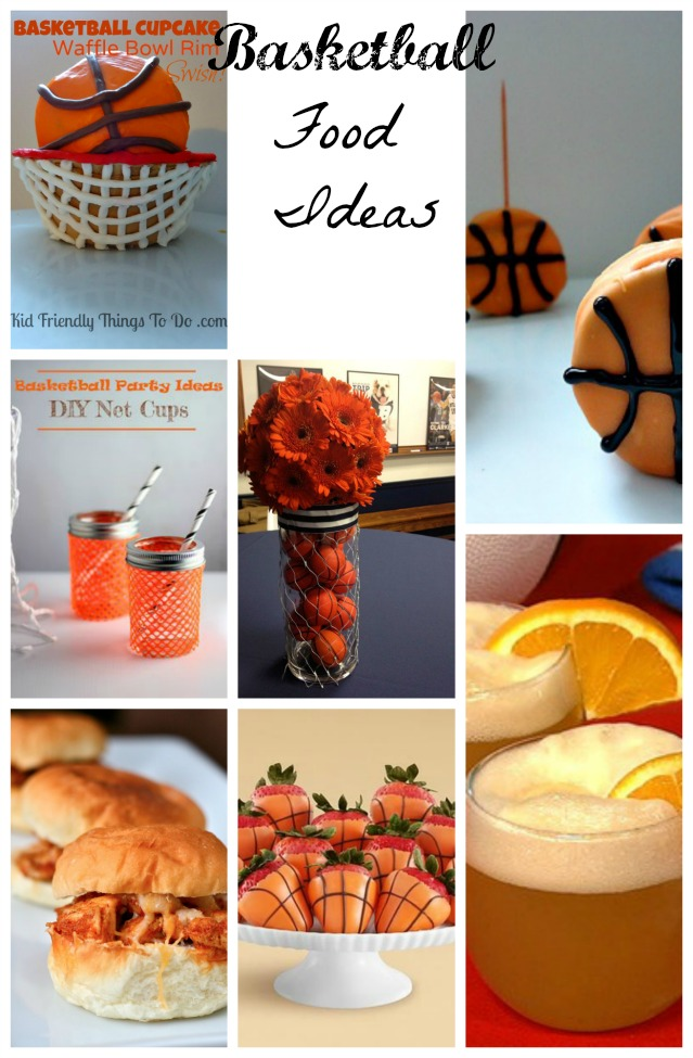 March Madness ready! These basketball food ideas are perfect for the party!
