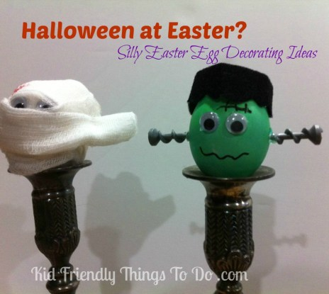 Silly Halloween Easter Egg Decorations