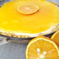 Amazing No Bake Orange Cheesecake Pie with Orange Glaze!