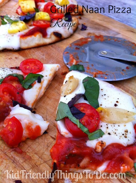 Grilled Naan Margherita Pizza Recipe
