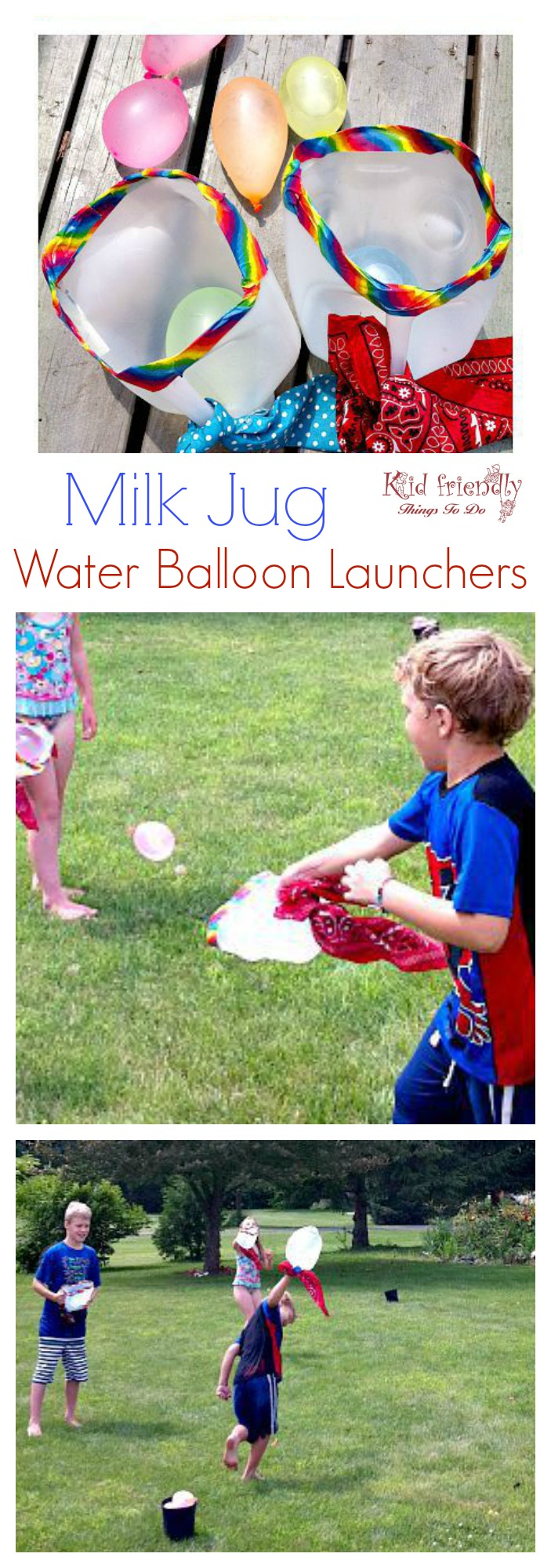 Diy milk jug water balloon launch outdoor summer game for kids for Fun balloon games for kids