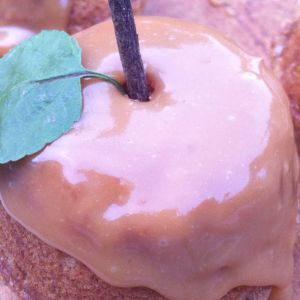 Easy Caramel Applesauce Spice Muffins
