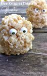 Rice Krispies Treats Ghosts - A Halloween or Hotel Transylvania Fun Food - KidFriendlyThingsToDo.com