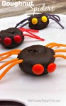 Easy as 1,2,3! Spider Doughnuts for a fun food Halloween Treat! KidFriendlyThingsToDo.com