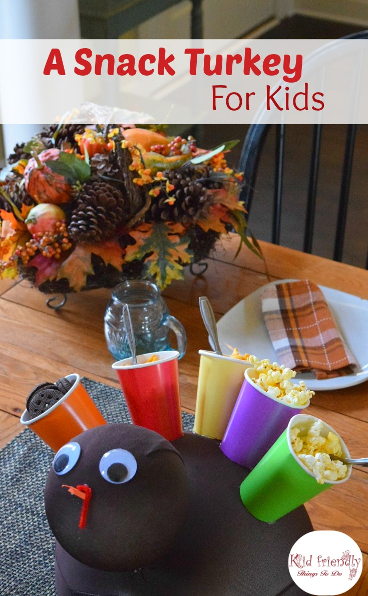 A Snack Turkey Craft for Thanksgiving with Kids - Fill The ...