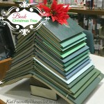 A Christmas Tree Made From Books! - What a cute craft and adorable decoration for Christmas - KidFriendlyThingsToDo.com