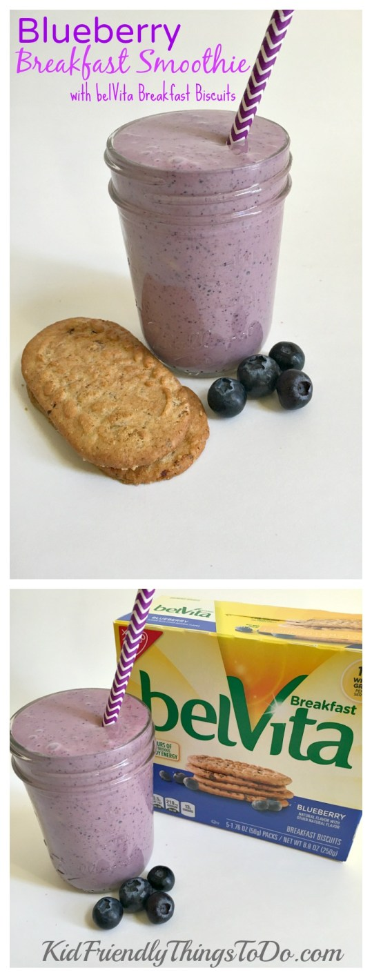 3 absolutely delicious Breakfast Smoothies all made with belVita Breakfast Biscuits! - KidFriendlyThingsToDo.com