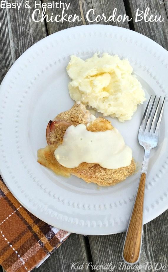 Easy and Healthy Chicken Cordon Bleu Recipe - KidFriendlyThingsToDo.comEasy and Healthy Chicken Cordon Bleu Recipe - KidFriendlyThingsToDo.com