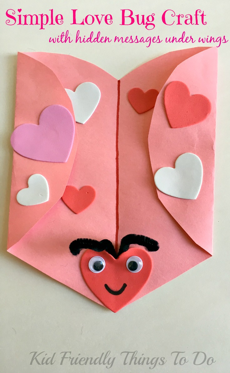 Valentine love bug craft - Simple Love Bug Valentine Craft