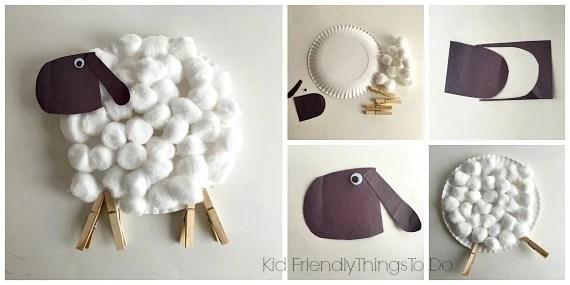 Easy Paper Plate Lamb Craft for Kids - KidFriendlyThingsToDo.com