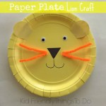 Simple, fun to make, and so adorable Lion Paper Plate craft for kids - KIdFriendlyThingsToDo.com