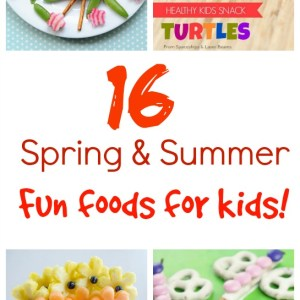 A collection of fun spring and summer foods for kids - KidFriendlyThingsToDo.com