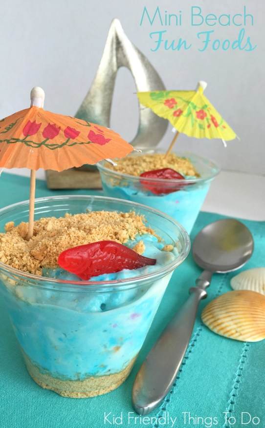 Easy Mini Beach Ice Cream Fun Food - Perfect for Under the Sea, Ocean, and Finding Dory parties - KidFriendlyThingsToDo.com