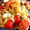 Shrimp with tomato and feta pasta recipe. Oh my!