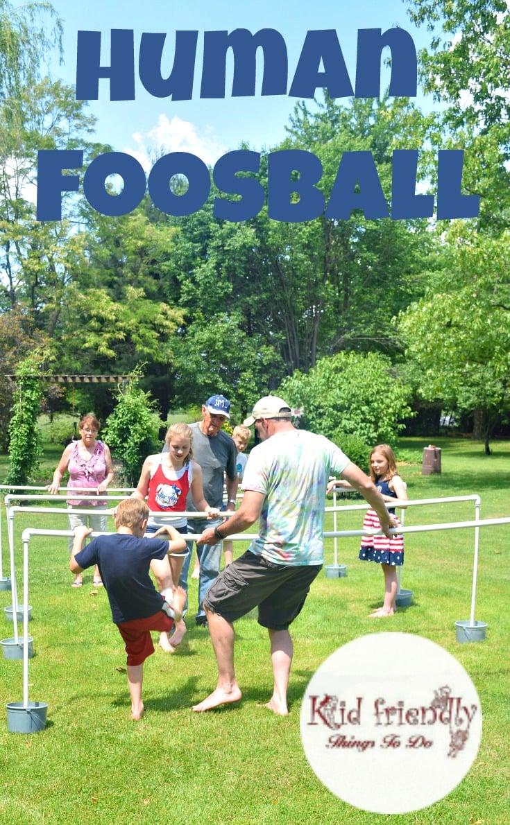 diy human foosball game for family fun