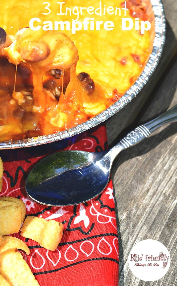 3 Ingredient Campfire Dip - KidFriendlyThingsToDo.com