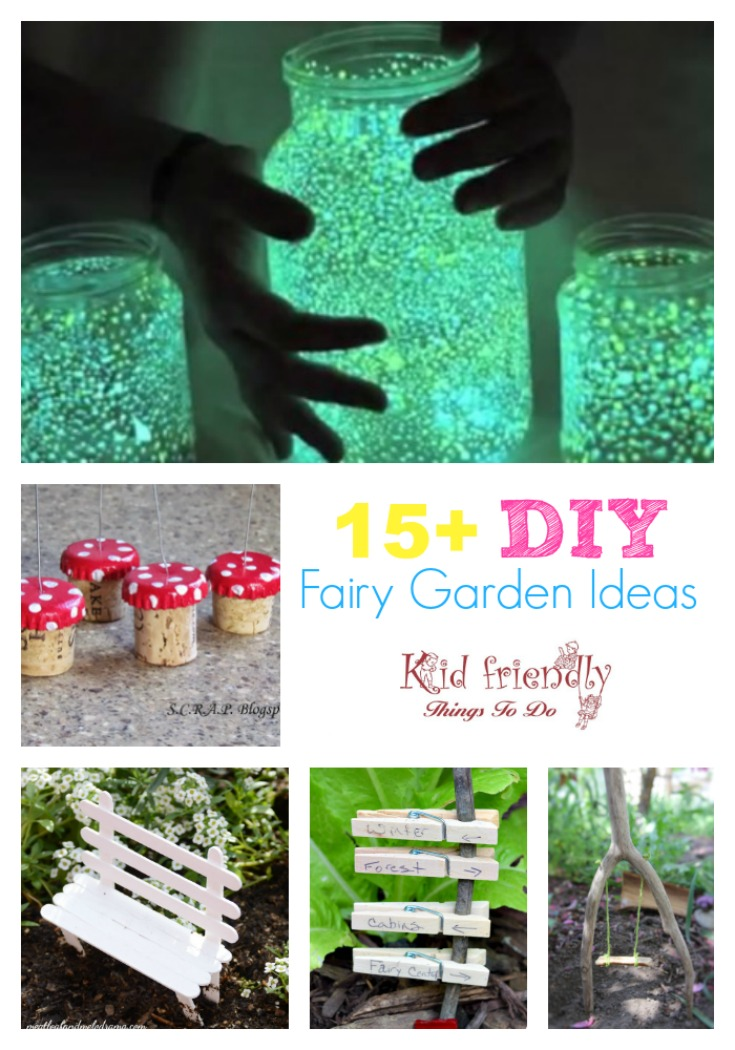 DIY Fairy Garden Ideas for fun in the garden with kids! www.kidfriendlythingstodo.com