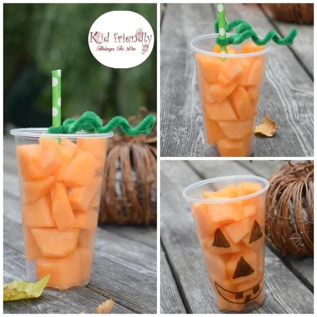 Fun and Easy Pumpkin Fruit Cups For a Healthy Kids Fall & Halloween Treat - www.kidfriendlythingstodo.com